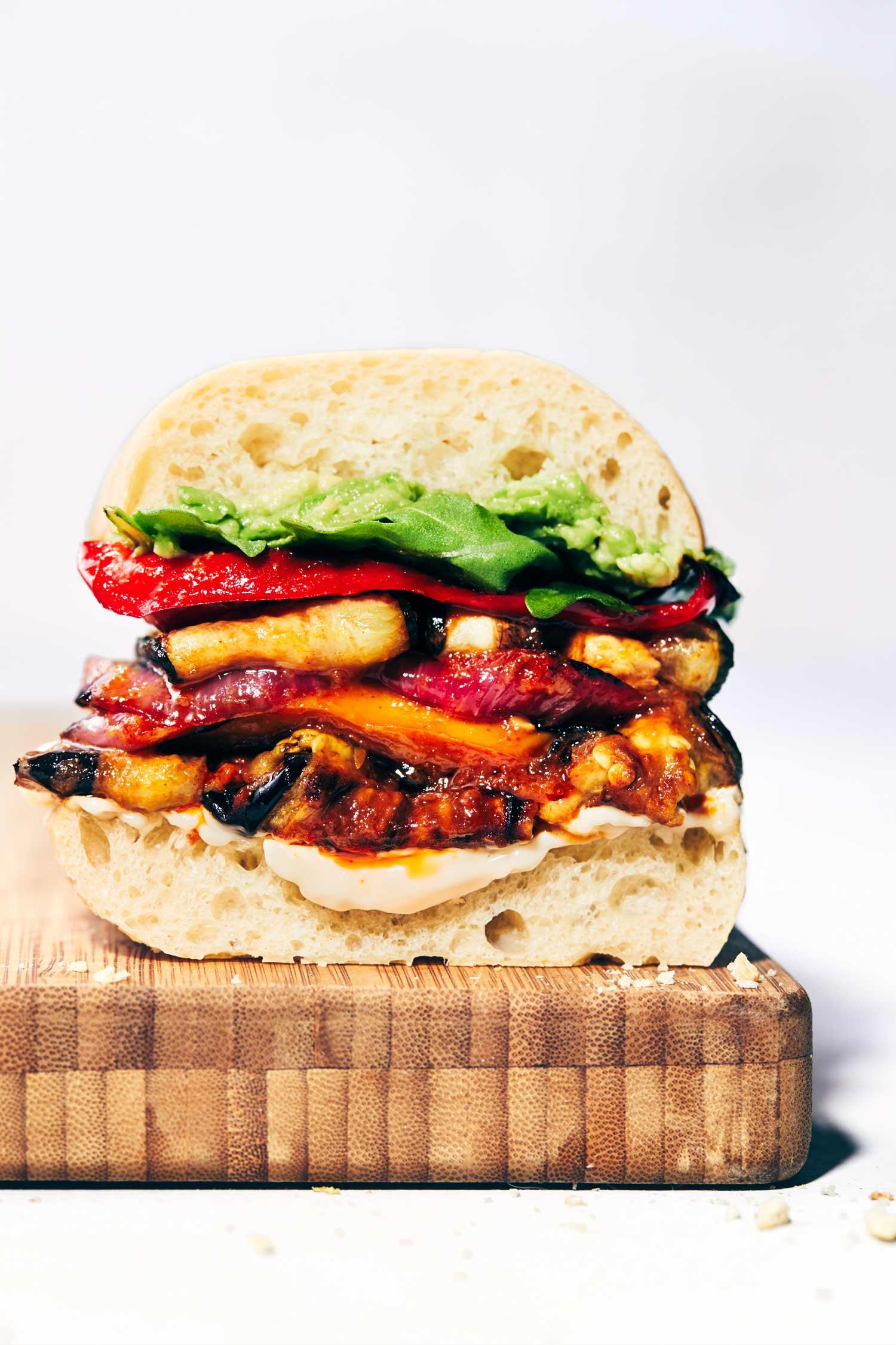 Roasted Veggie Sandwiches with Peri Peri | Evergreen Kitchen | Vegan