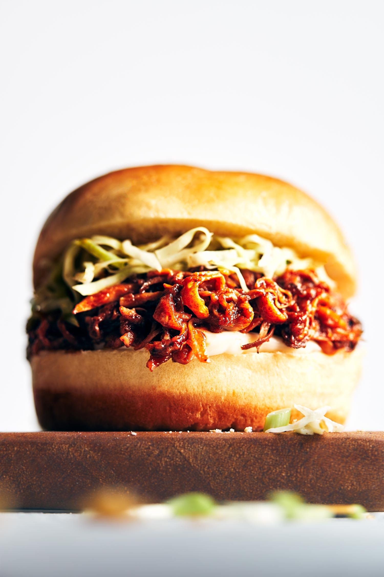 BBQ Pulled Mushroom Sandwiches | Evergreen Kitchen | Vegan, Gluten Free (option)
