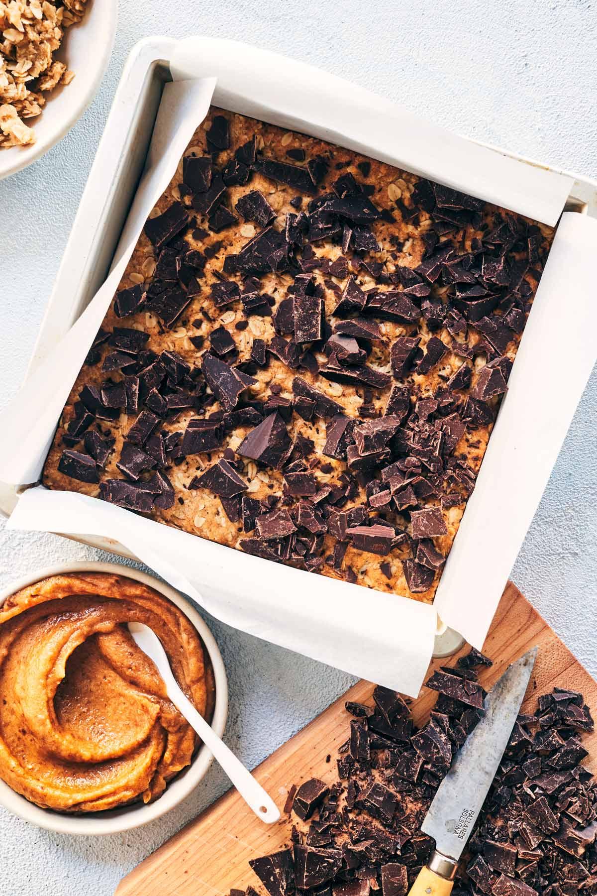 Vegan Chocolate Caramel Bars (Carmelitas)   Evergreen Kitchen   Vegan