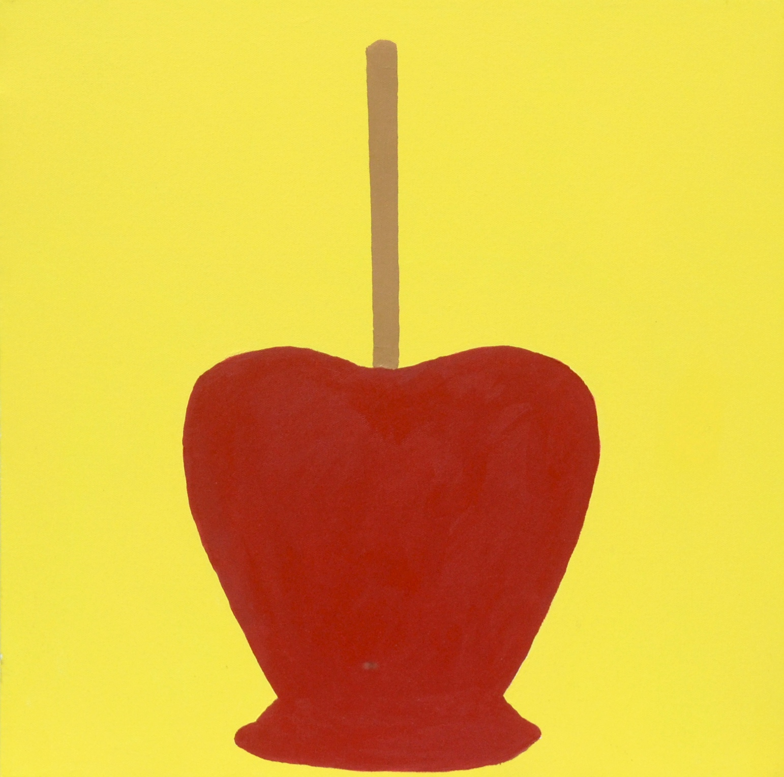 yellow, candy apple