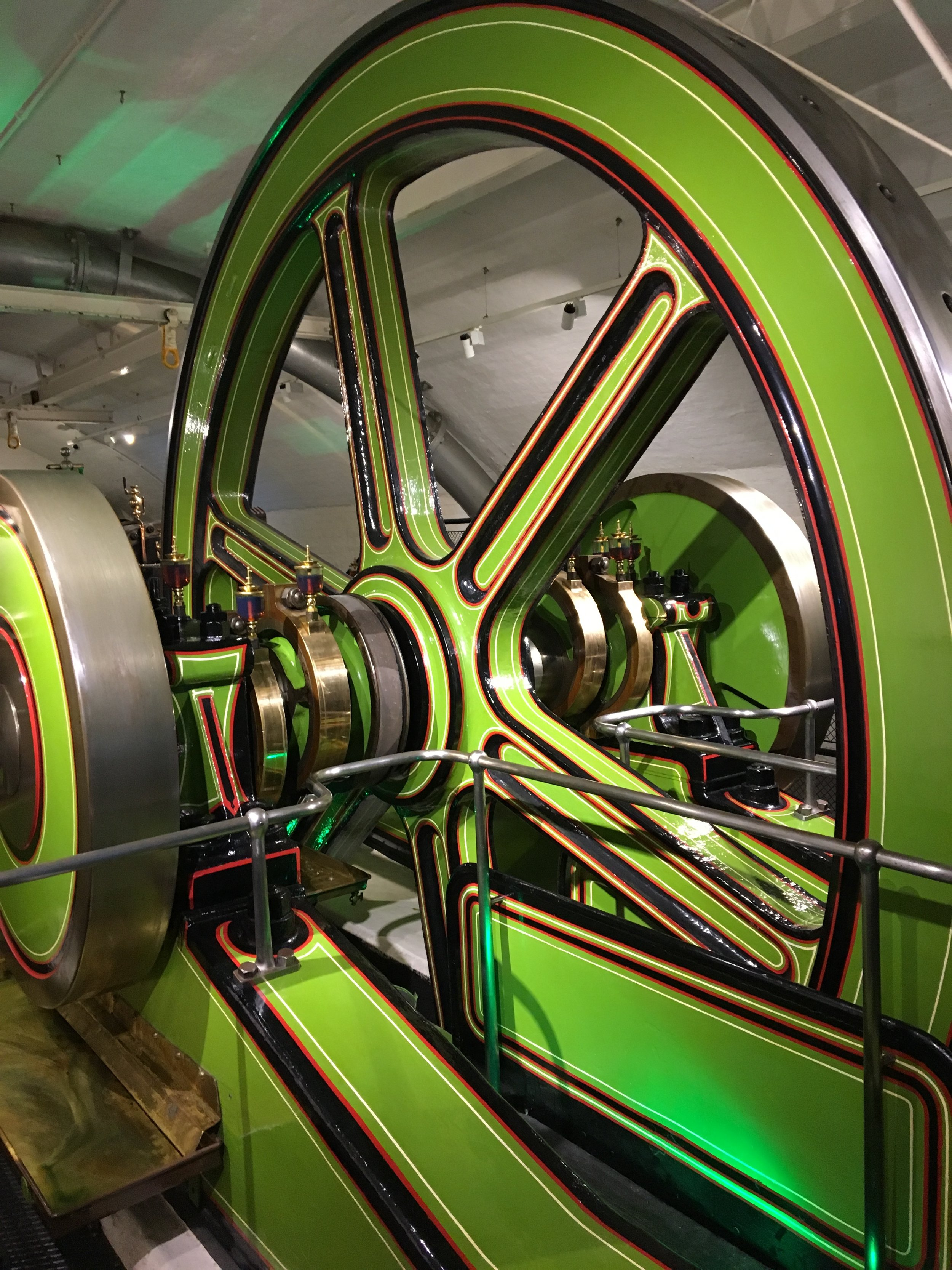 Part of the old steam engines in the Tower Bridge - I loved that green. So unexpected.