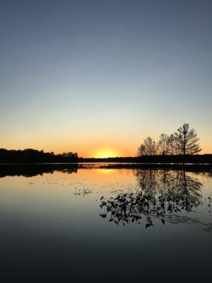 Sunset at Oak Lake - Photo Credit: Vikki Reich
