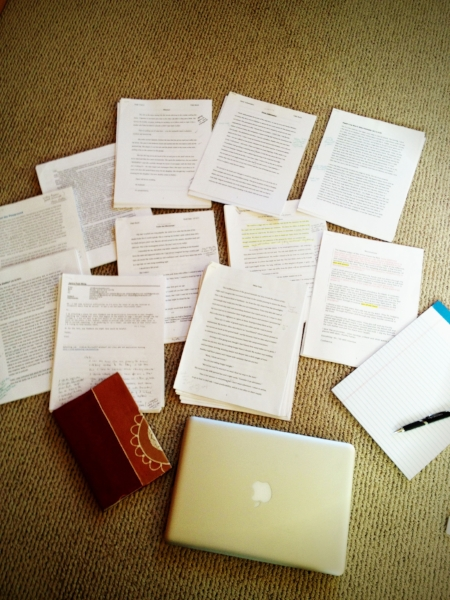 My messy manuscript