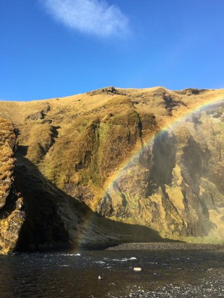 Rainbows and waterfalls