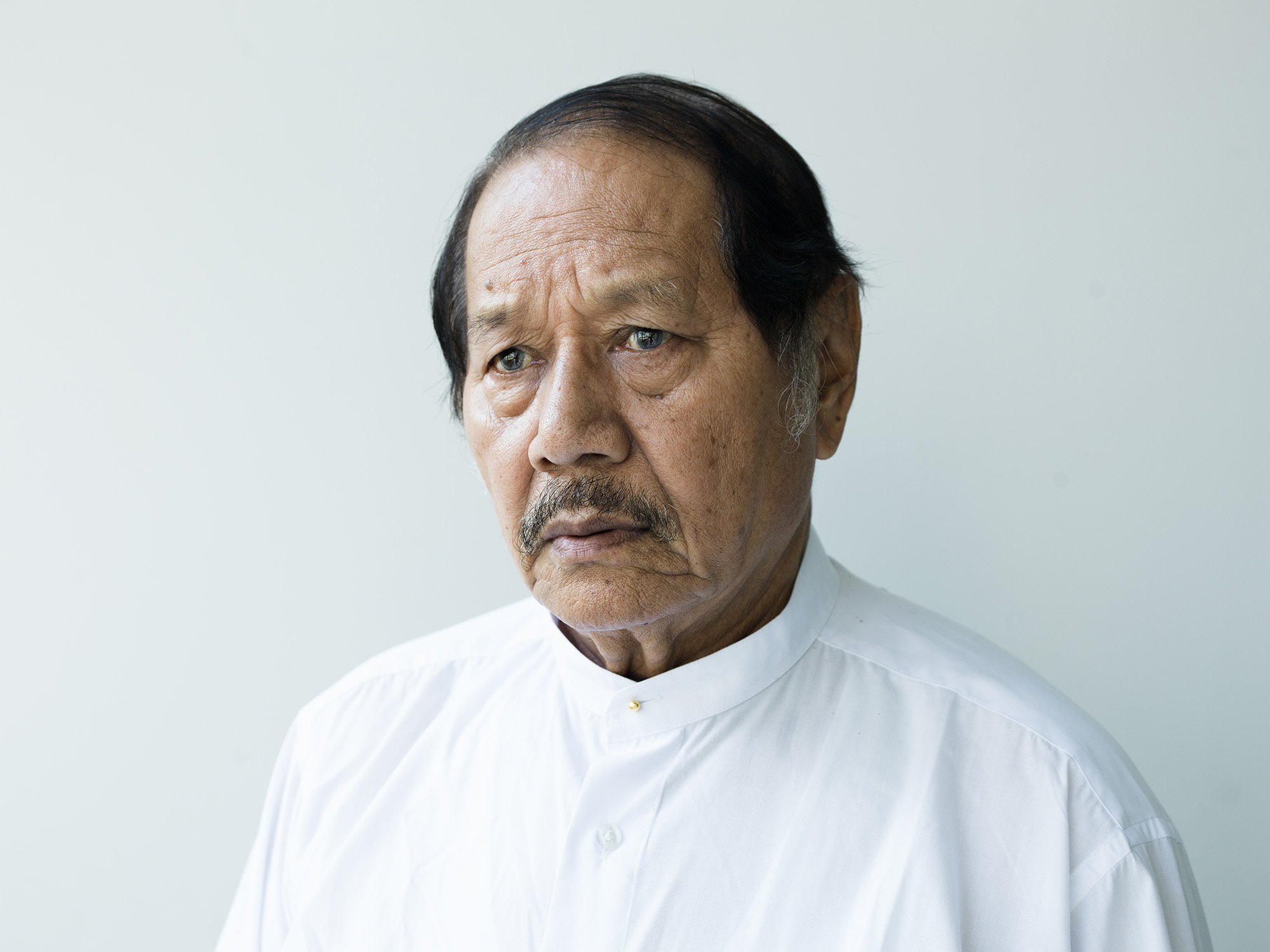 U Aung Lwin. Born in Sittwe, Rakhine State in 1935, he is an accomplished and well respected actor and director, having made his film debut in 1957. Today, he is the manager of the archive, spearheading the movement to preserve these important artefacts.