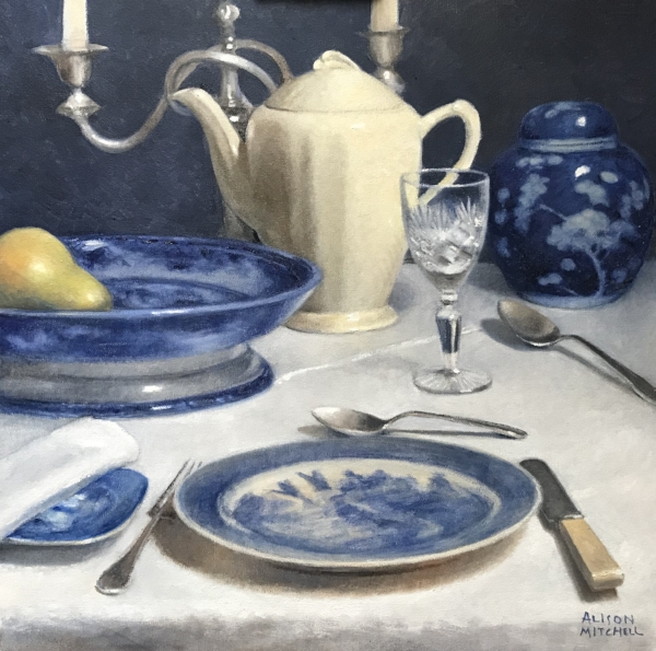 Alison Mitchell  'Evening Meal'  Oil on canvas