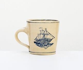 Image: Gerry Wedd, Vessel Cup, thrown, cobalt decoratio, .1220°, 90x90mm. Photo: Andrew Cowen