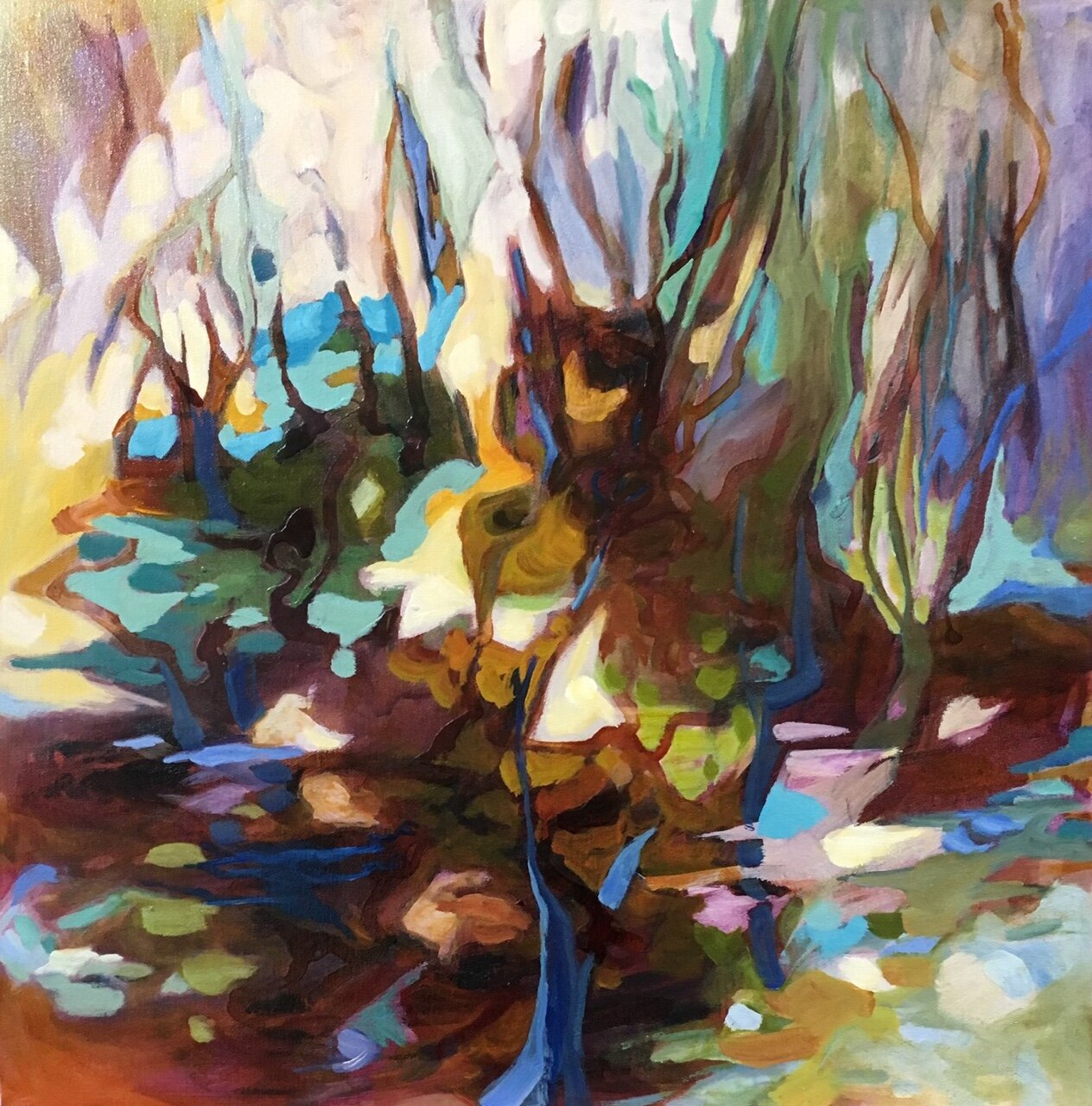 """Margie Hooper """"Spring"""" Mixed media on canvas"""