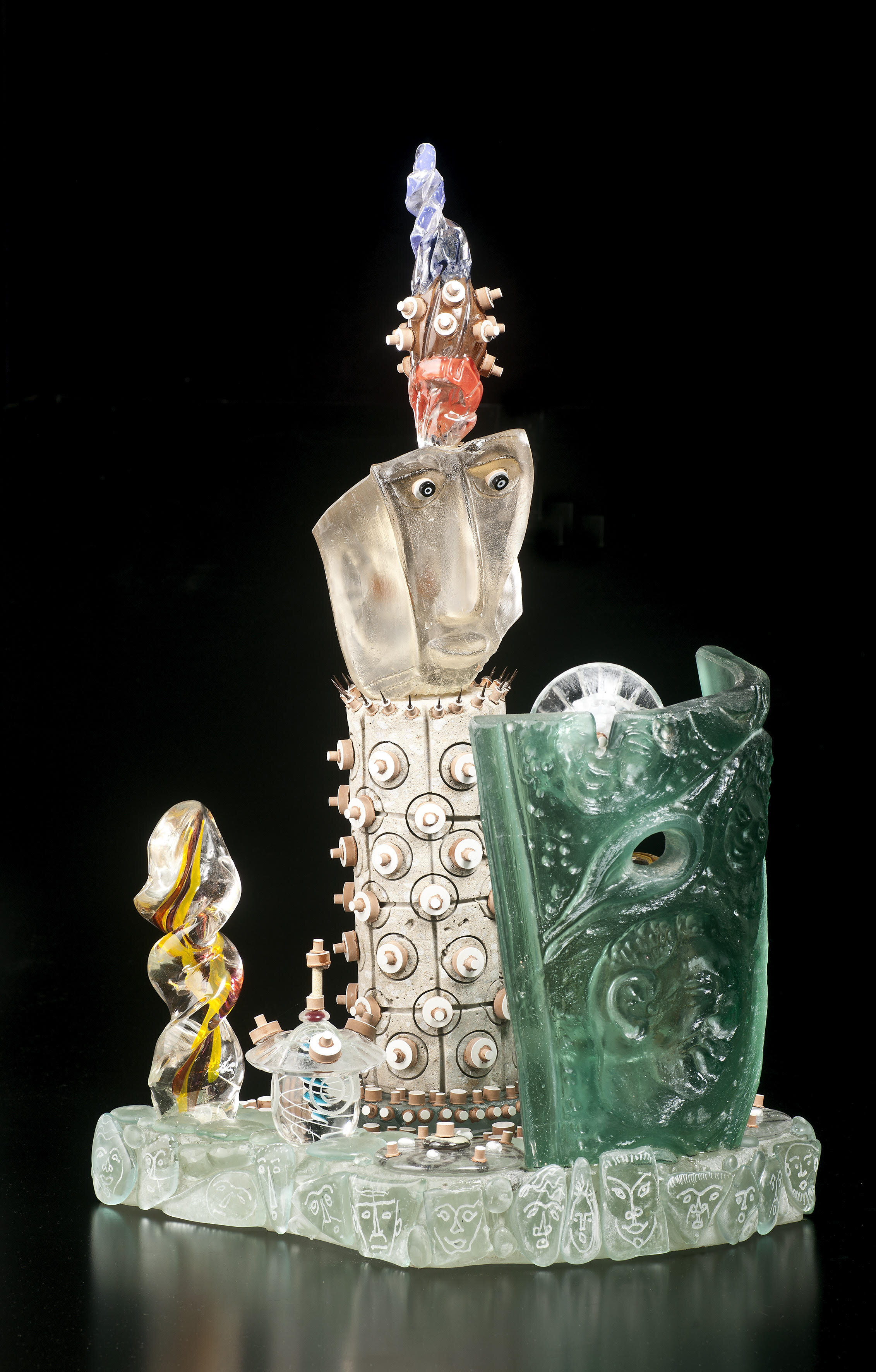 Stephen Skillitzi,  'Personal Space Invasion'.  glass, concrete, clay, metal