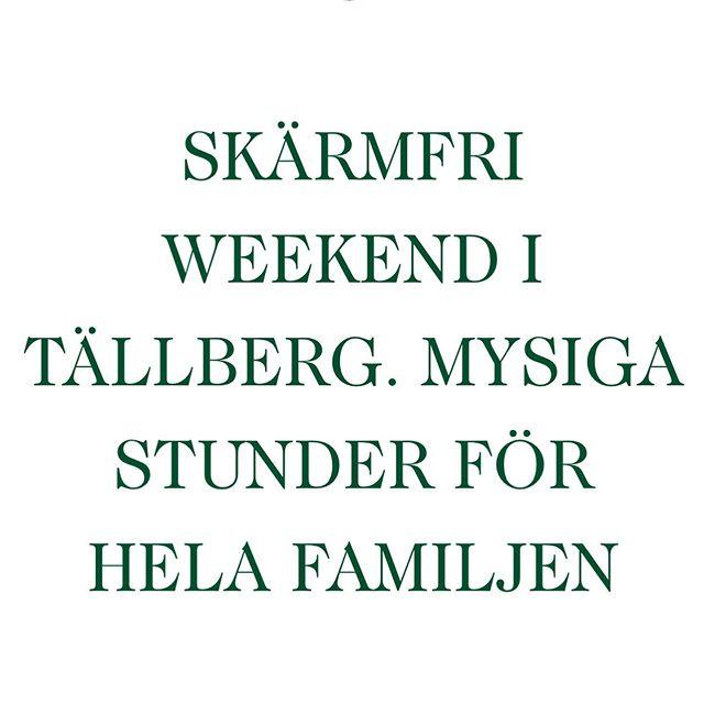Älskar det här projektet vi hjälper Green Hotel i Tällberg med! En helg full av aktiviteter för hela familjen där fokus är gemenskap, glädje o såklart en del sport. In o boka paketet på deras hemsida, länk i bio. Datumet är 18-20 oktober. Hoppas vi ses där!