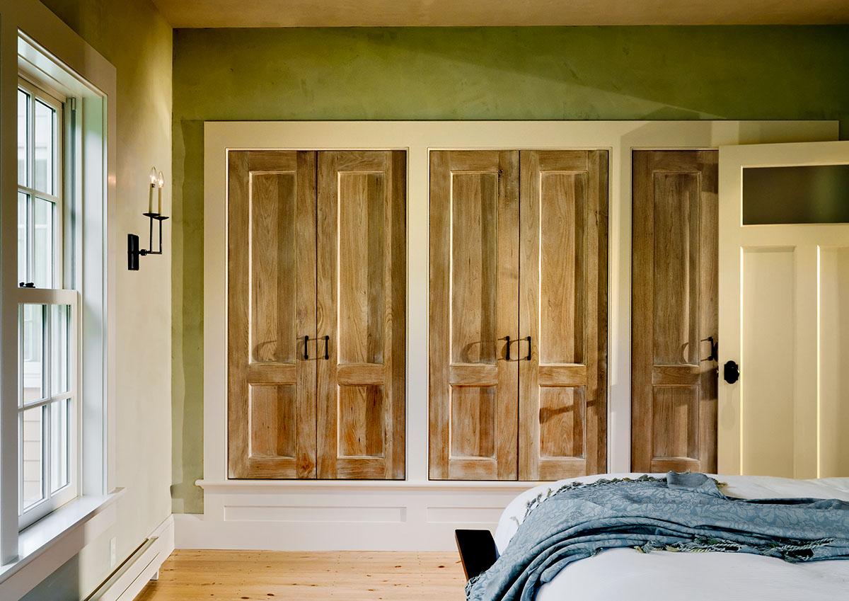Glazed Butternut Closet Doors