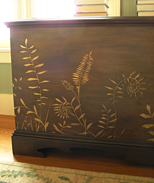 Fern Insprired Television Cabinet