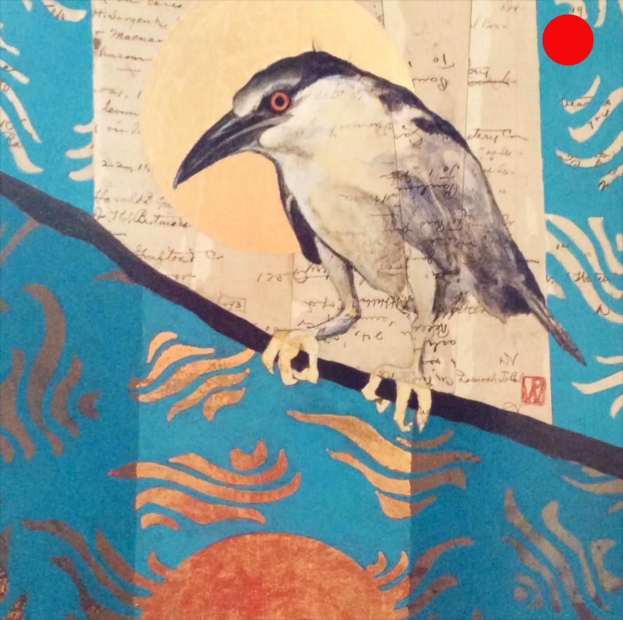Lunar Cycles/Water - Gray Heron
