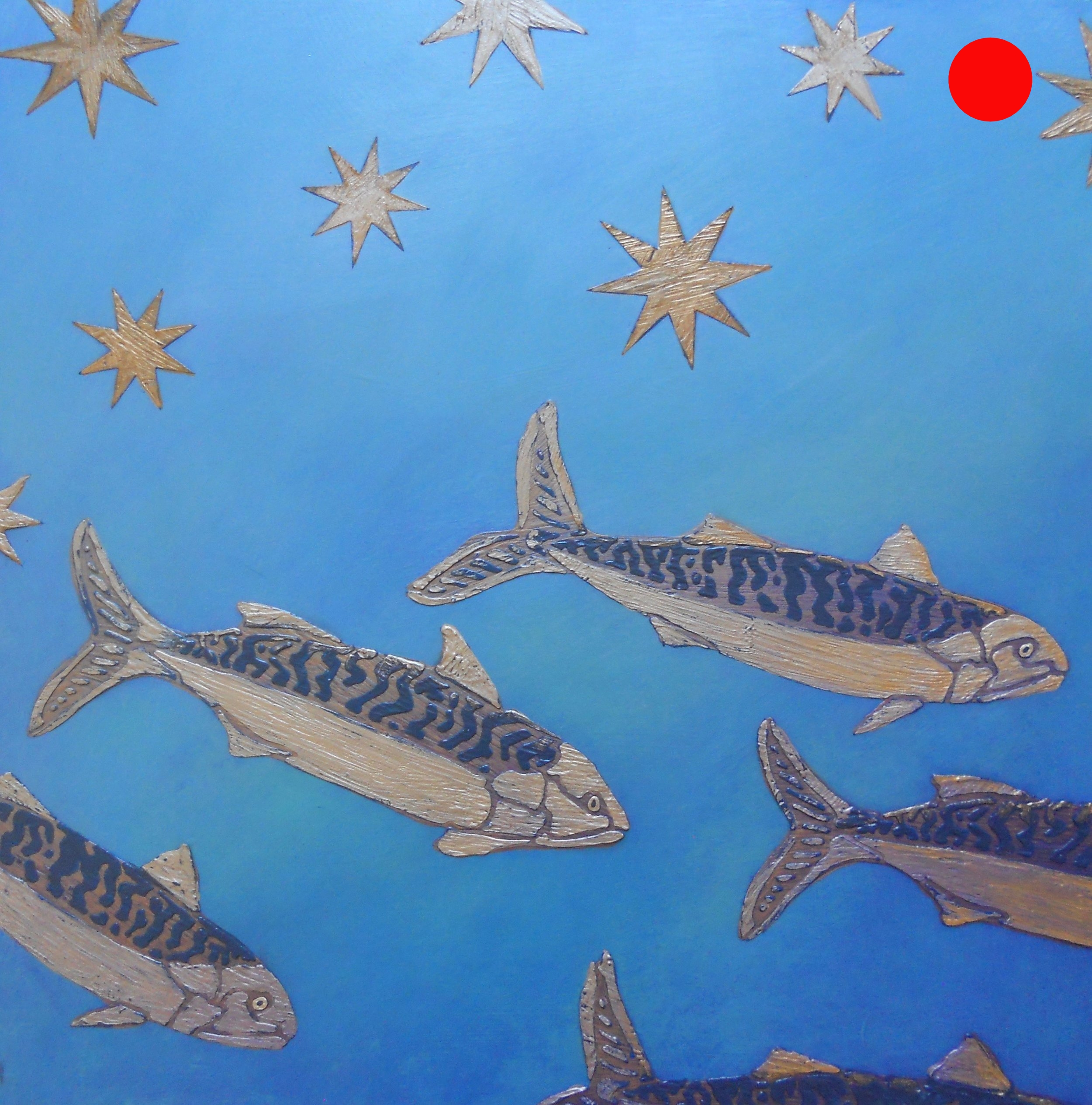Night Swim of the Mackerels (After Giotto)