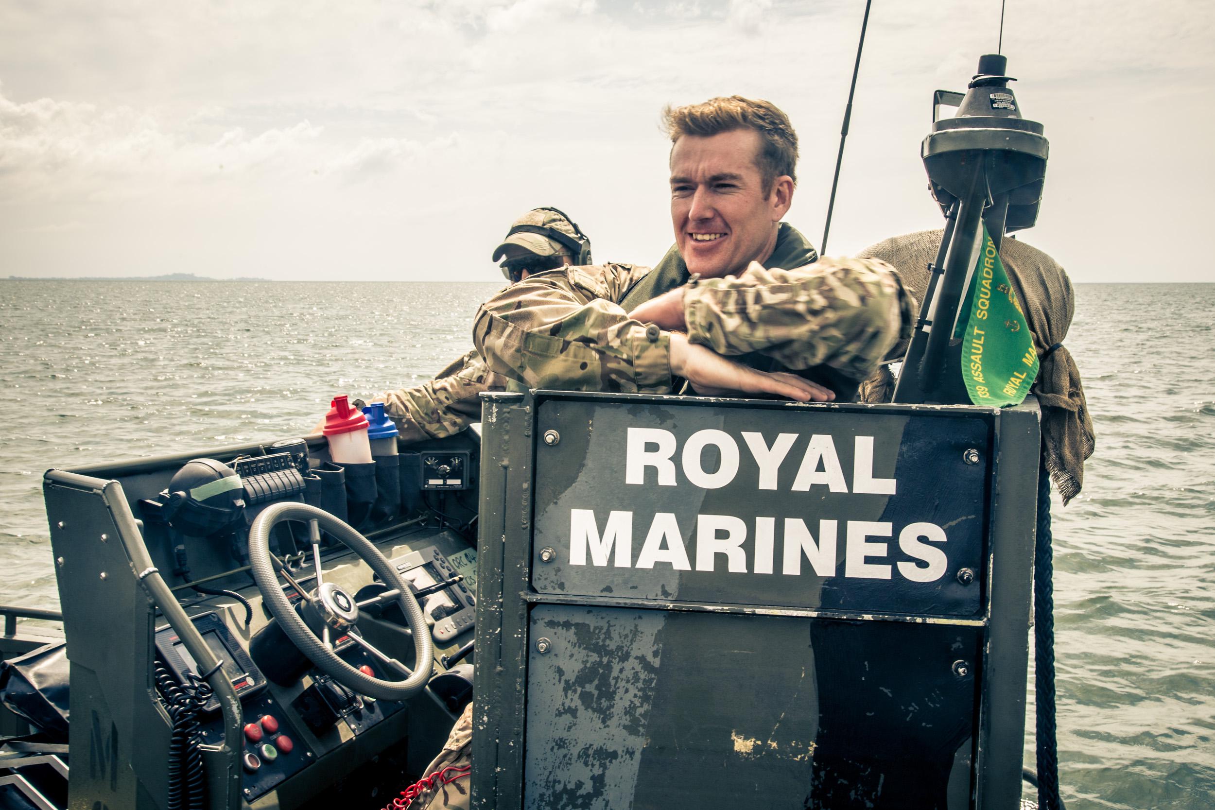 British Royal Marines in Sierra Leone