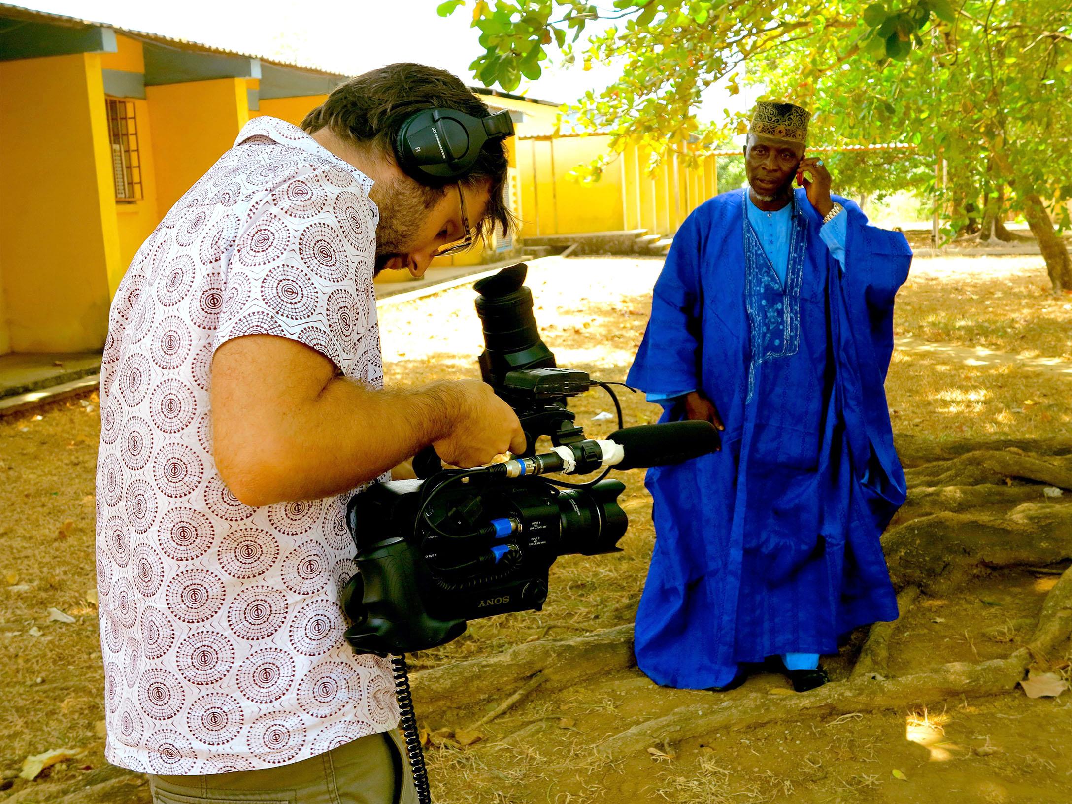 Filming Zero Ebola Pledges