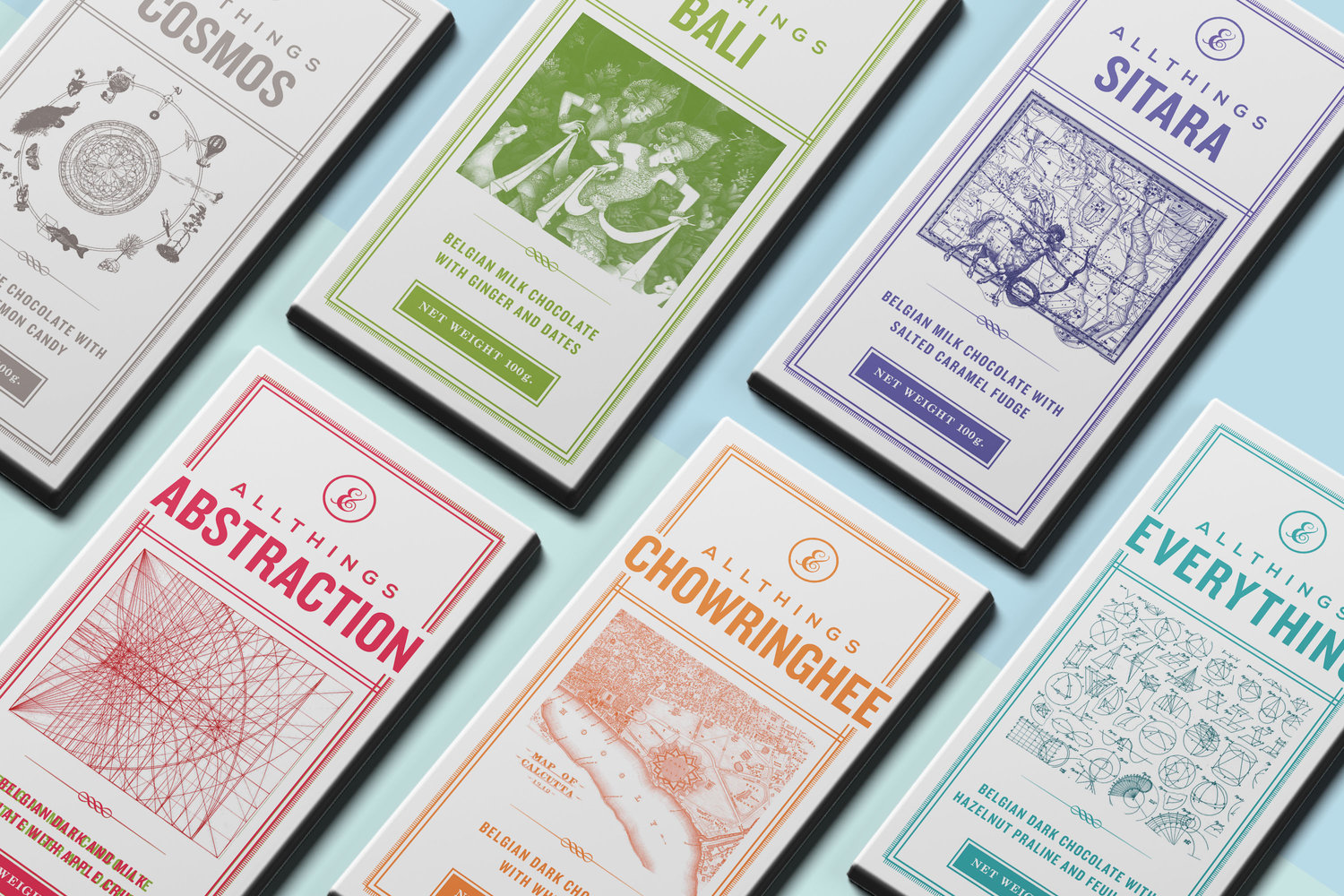 All Things Chocolate  Inspiration by Lewis Carroll's  Alice in Wonderland , newborn announcement, visual identity & chocolate packaging. ___  Entertainment / Food & Drink
