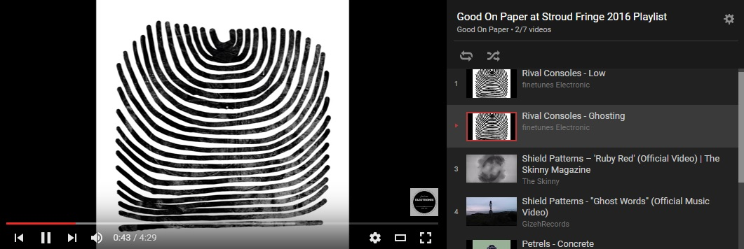 Click   here   for our fringe playlist ft. Rival Consoles, Shield Patterns, Petrels and Body Clocks..