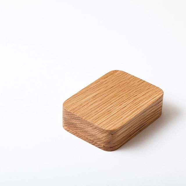 Made out of solid wood the box becomes a block when closed.  Also available without card, for storage of small thing.  #cardbox #madeinoslo #woodenbox #box