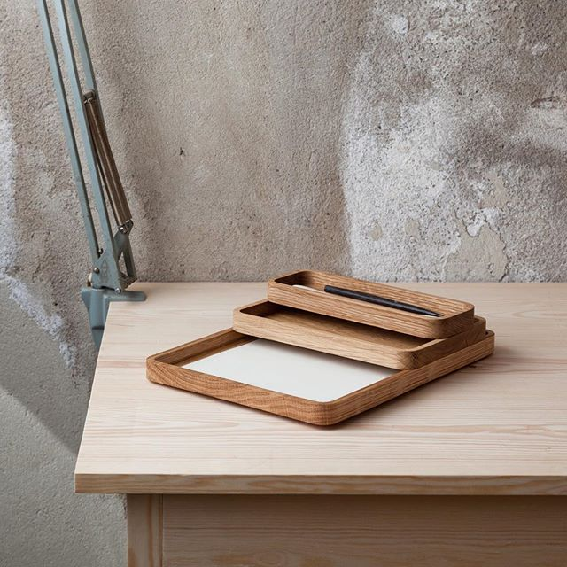 A456 is a new series of wooden trays. Available in four different sizes lets you stack, slide and build you one organiser.  #wooden #wood #madeinoslo #modular #organizer #office #tray #woodtray #a4