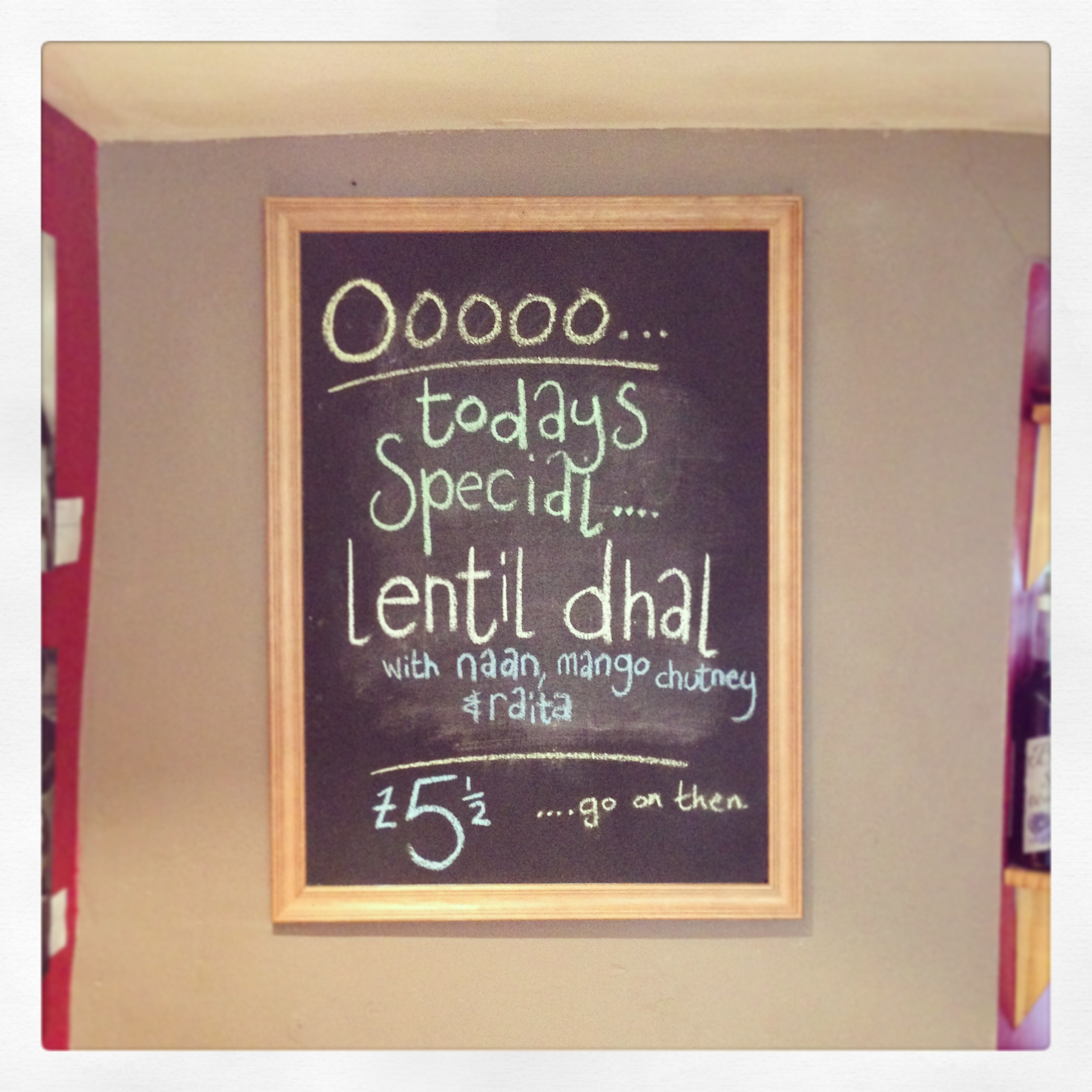 The dhal returns next month...