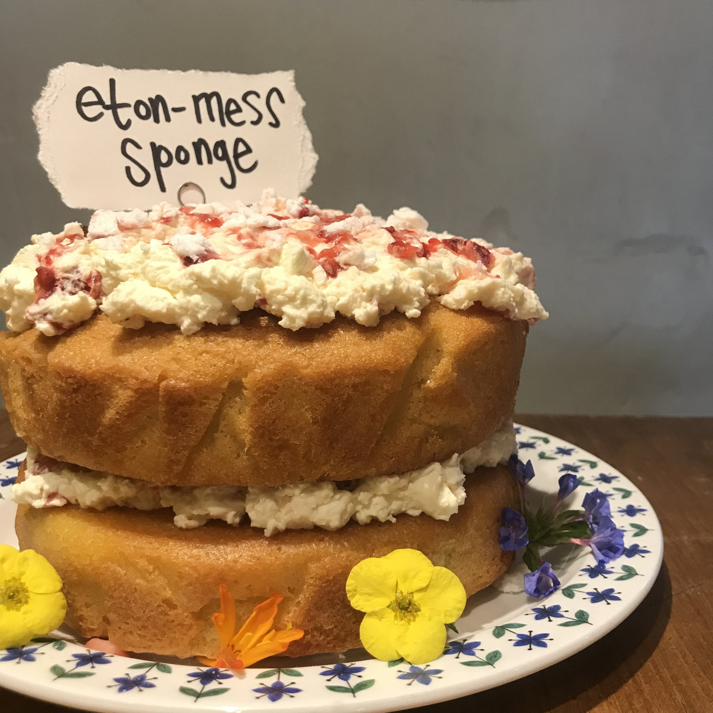 Rattle Ghyll Eton mess sponge.. flowers optional.