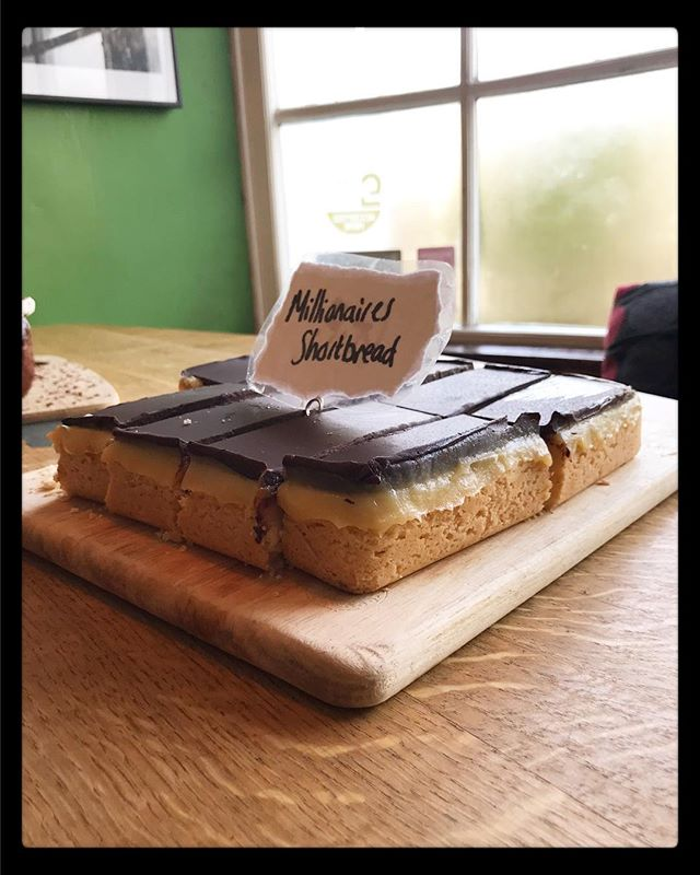 For all you chocoholics out there, we have you covered today! There's millionaire shortbread....a good ole thick layer of gluten free shortbread,gooey caramel and dark dark chocolate on top....and Black Forest cake....a chocolate and cherry 🍒 cake topped with freshly whipped cream and chocolate shavings!! 🍫  #chocolate . . . . . . . . #cafe #cake #shortbread #chocoholic #millionaires #rattleghyll #rattleghyllcafe #ambleside #cumbria #lakedistrict