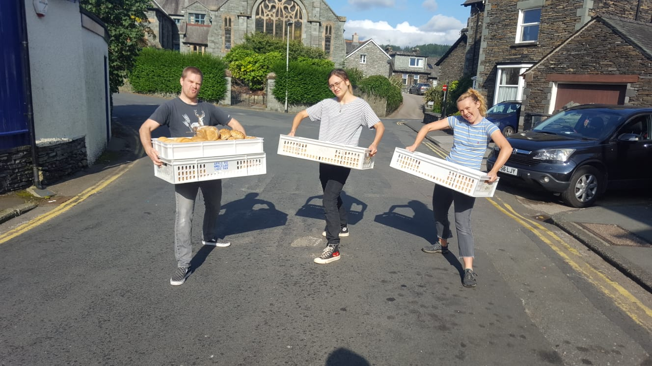 The morning bread run (& lunge)…