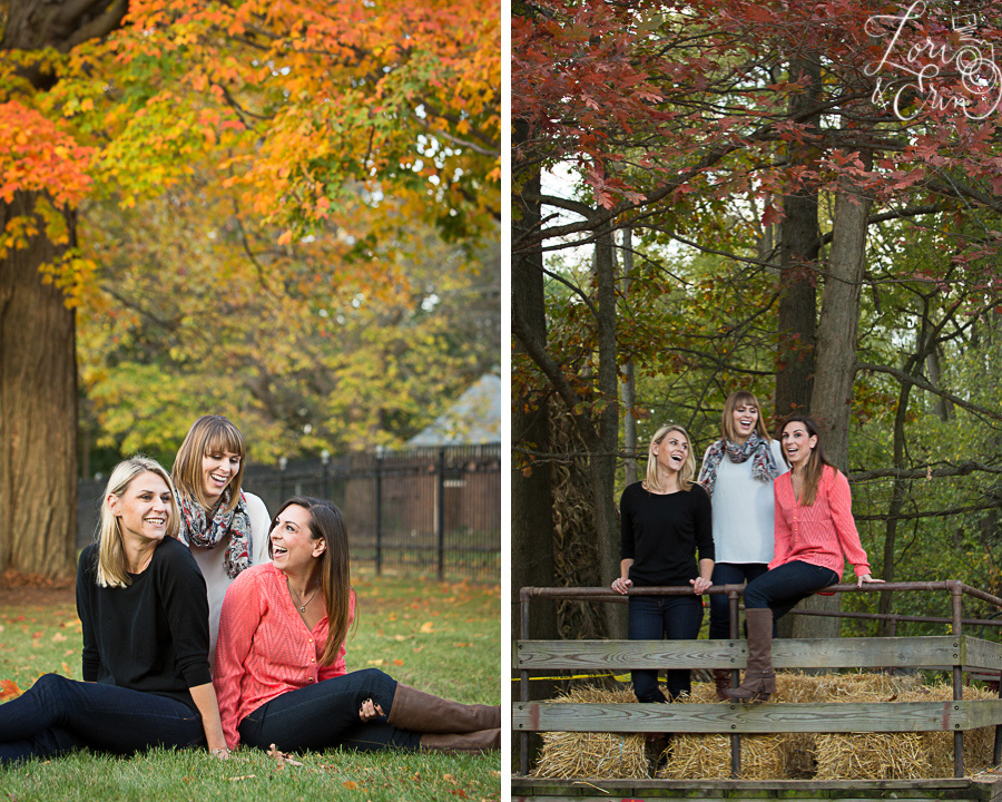 fall sister portraits