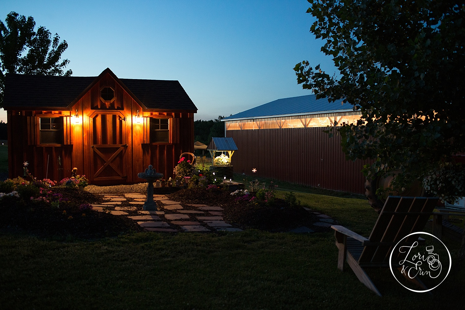 From the shed to the wishing well, it was all built by hand with love.