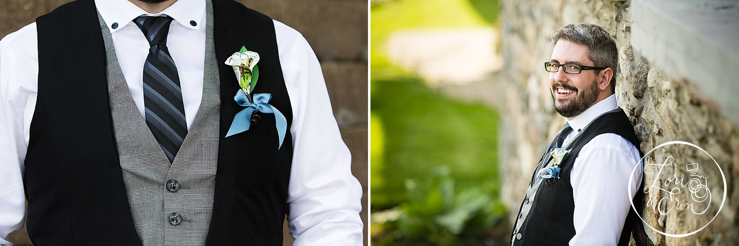 A Calvin and Hobbes  boutonniere - LOVE IT!