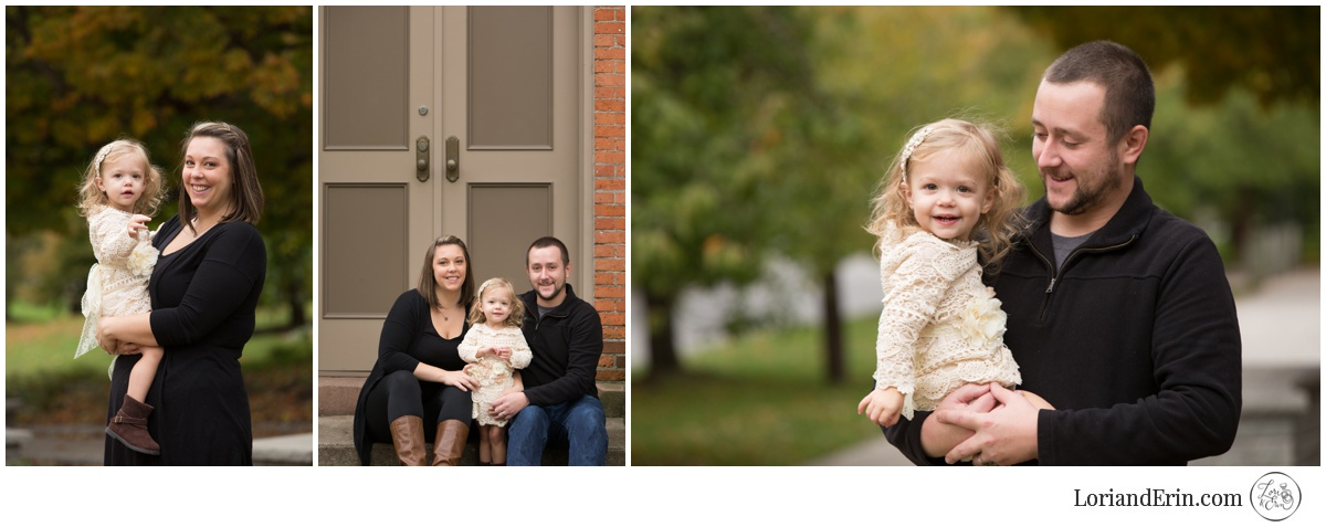 cute fall family portraits: Highland Park, Rochester NY family portrait session