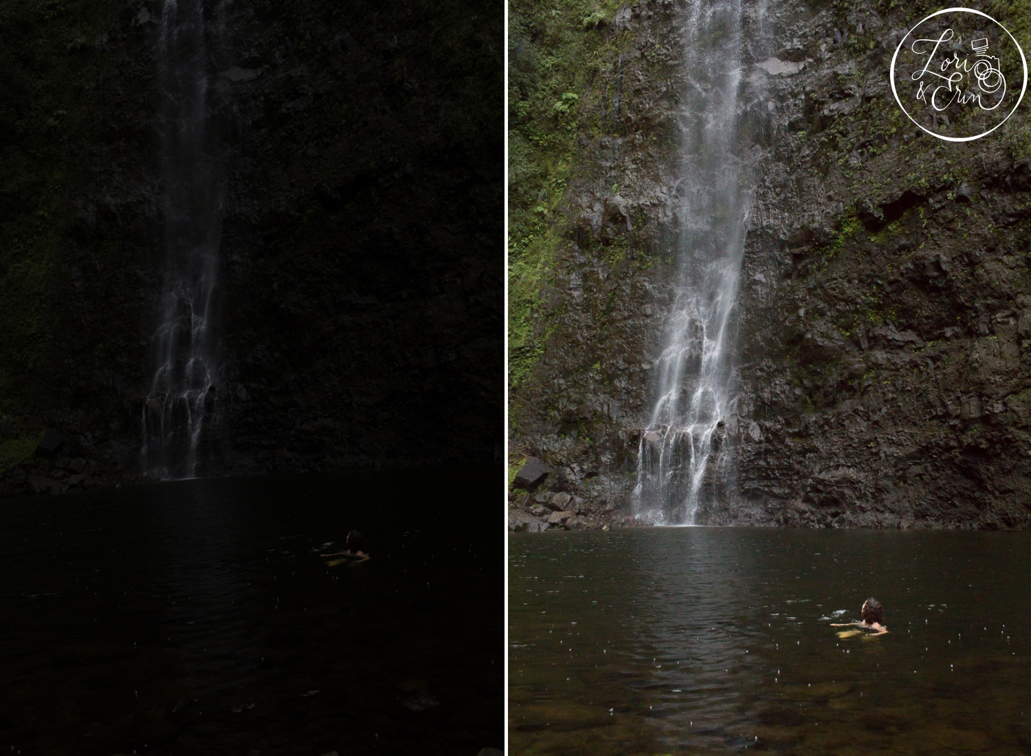 Swimming in Hanakoa Falls