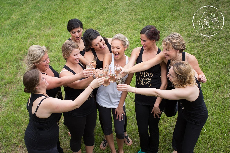 bridesmaids at Ventosa Vineyards in Geneva, NY