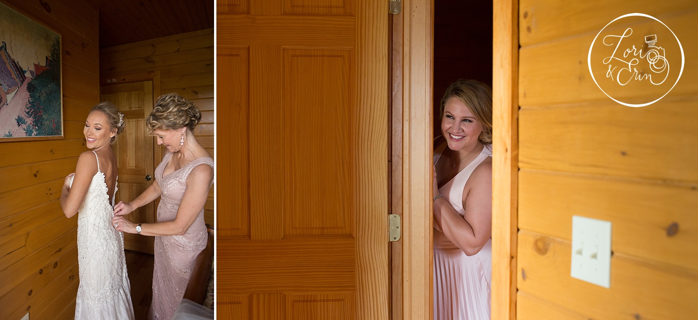 bride getting ready at Ventosa Vineyards in Geneva, NY