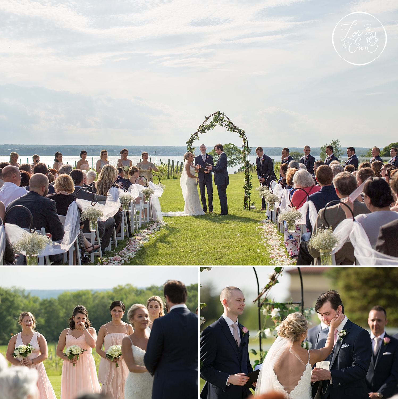 rustic wedding at Ventosa Vineyards in Geneva, NY | Lori & Erin Photography, Rochester NY