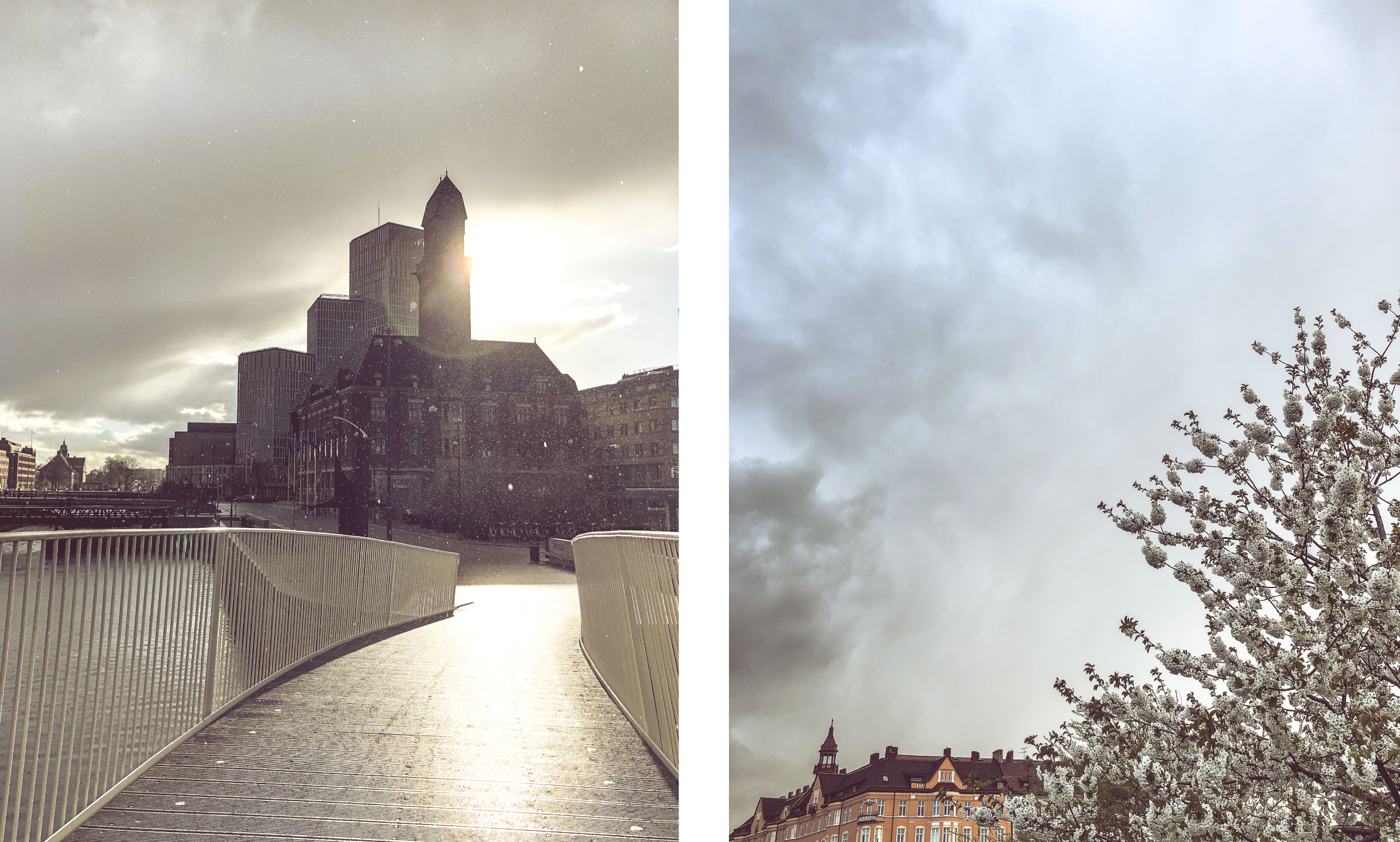 When editing   : Enhance the warmth in the afternoon lights or the cold in dramatic clouds. This is aslo a great time for contrasts, so pull them up a bit for more drama.