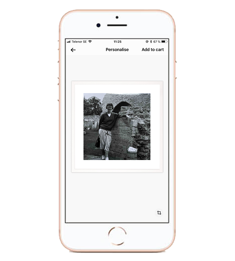 Create your gift - Open up your Framkalla app and pick a product of your choice. Upload your image/images, crop, fit and order. Your reinvented moments will be delivered ready to gift in just a few days.