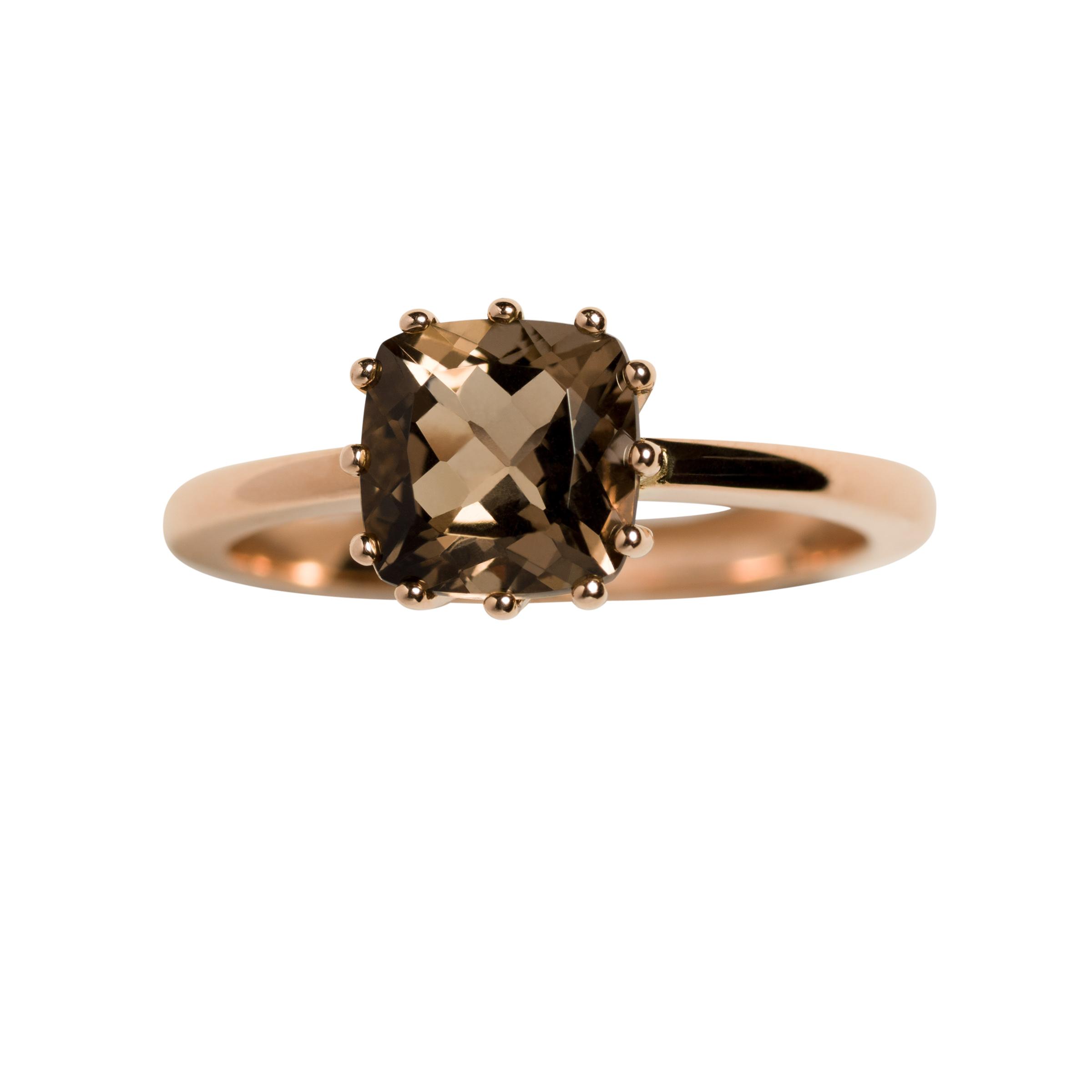 JUDITH RING 16.000 NOK. 18 kt rose gold with quartz