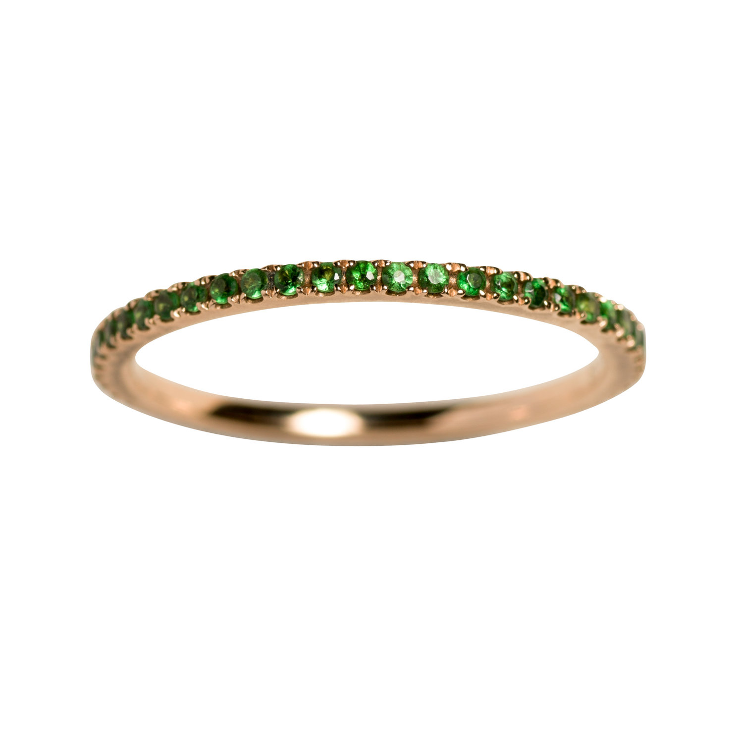 PETIT OLIVIA RING  16.000 NOK. 18 kt gold with green sapphires