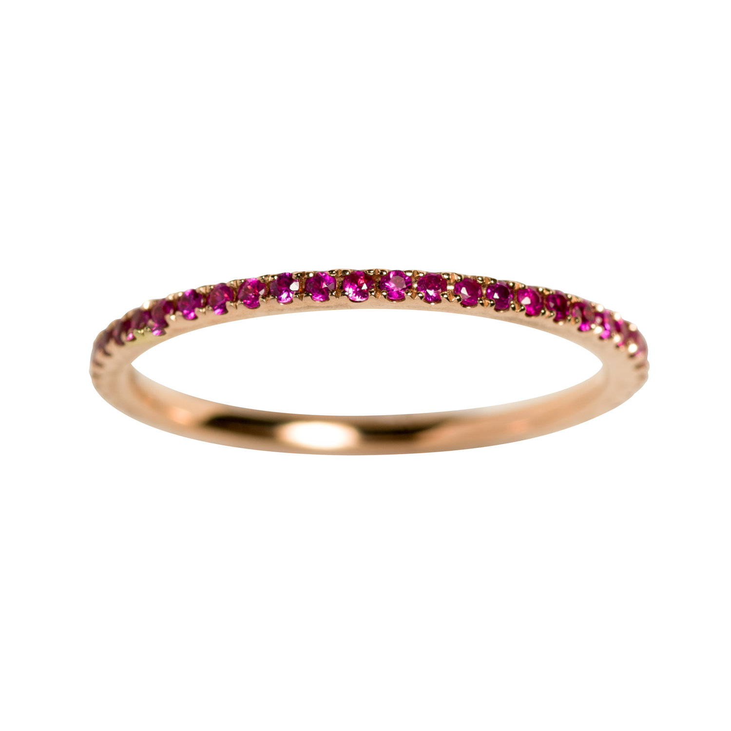 PETIT OLIVIA RING 16.000 NOK. 18 kt gold with pink sapphires