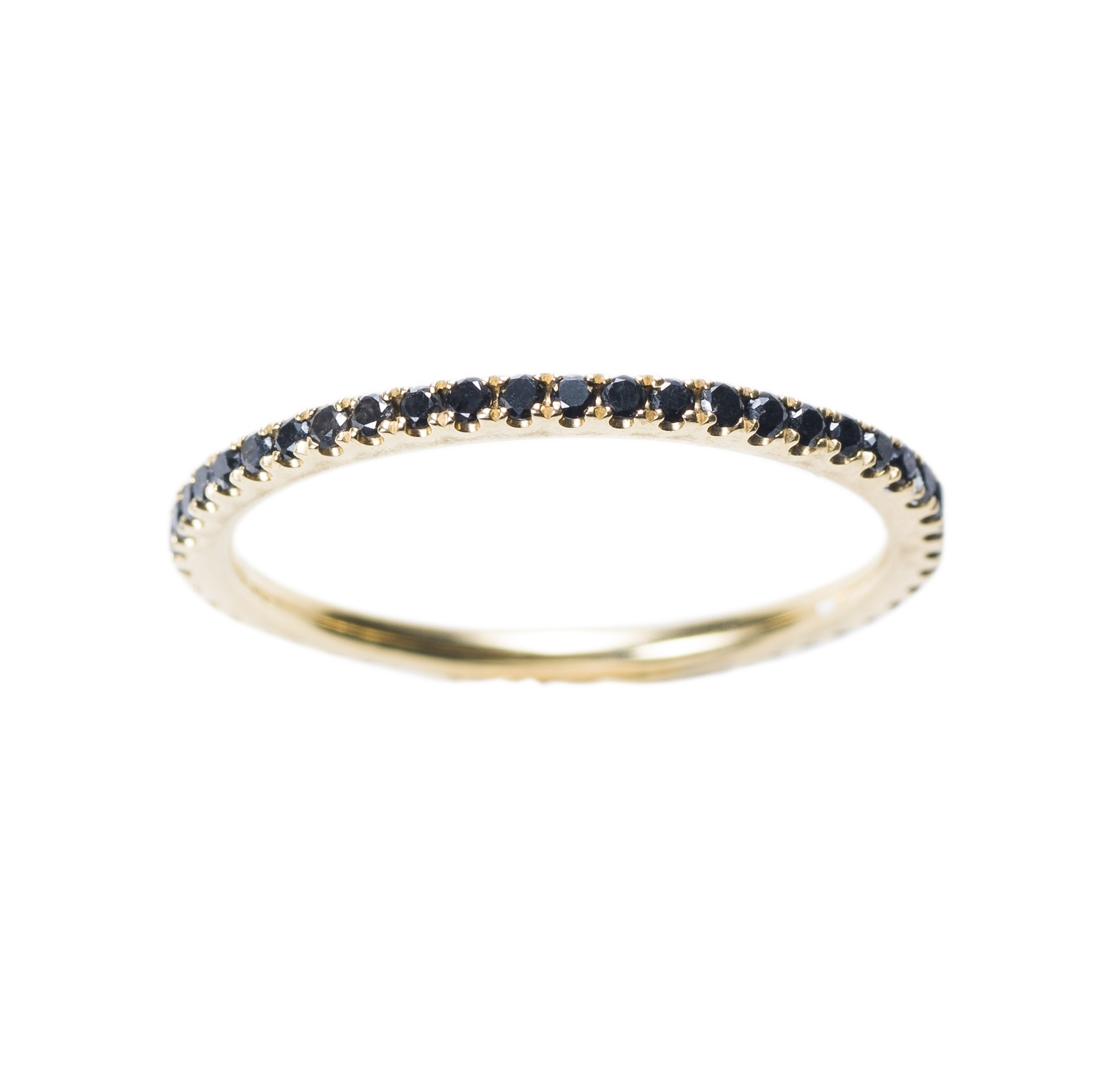 PETIT OLIVIA RING  17.500 NOK. 18 kt gold with black diamonds