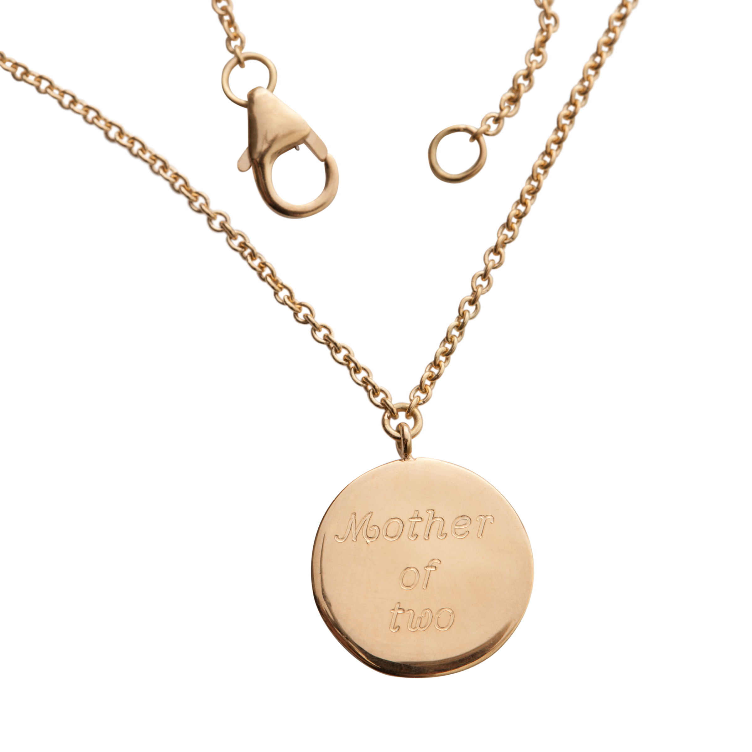 THE MOTHER OF NECKLACE   12.000 NOK   18 kt white gold. Engraved by hand