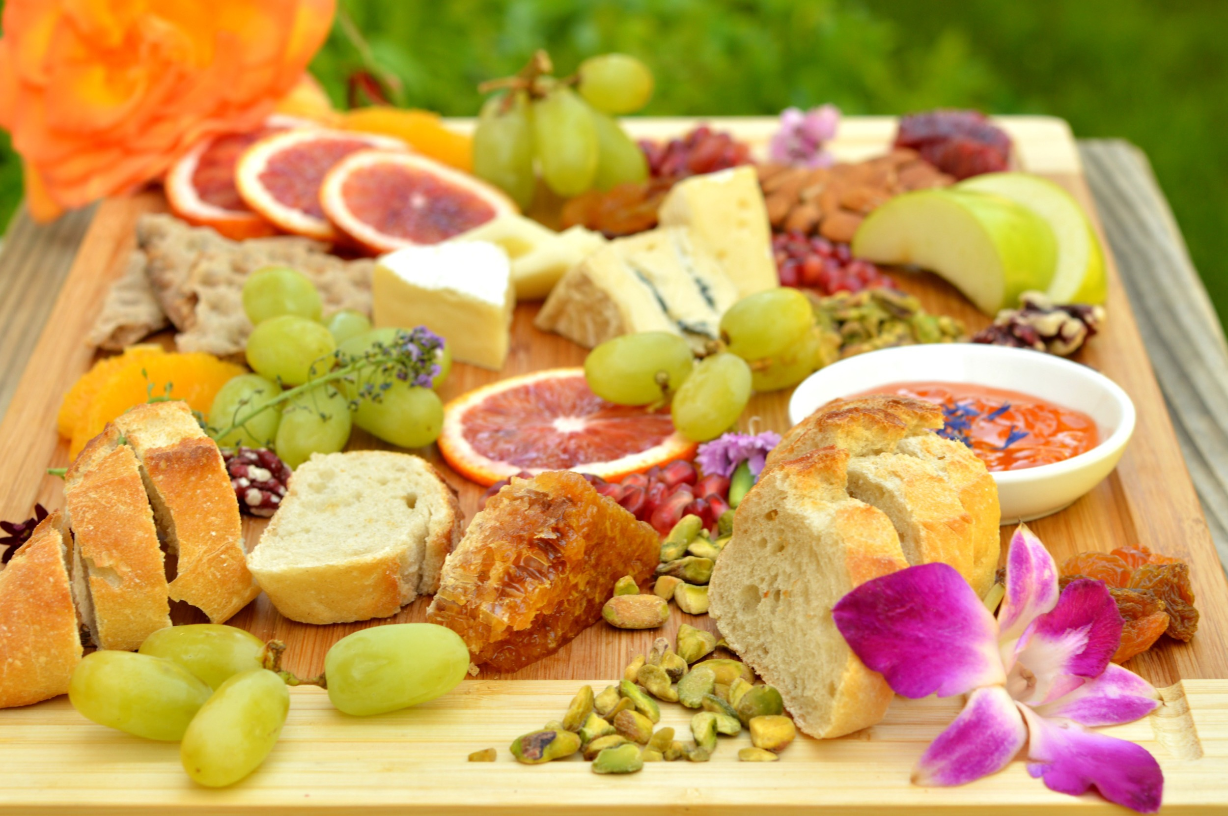 cheese plate flowers 3 26 2015.jpg