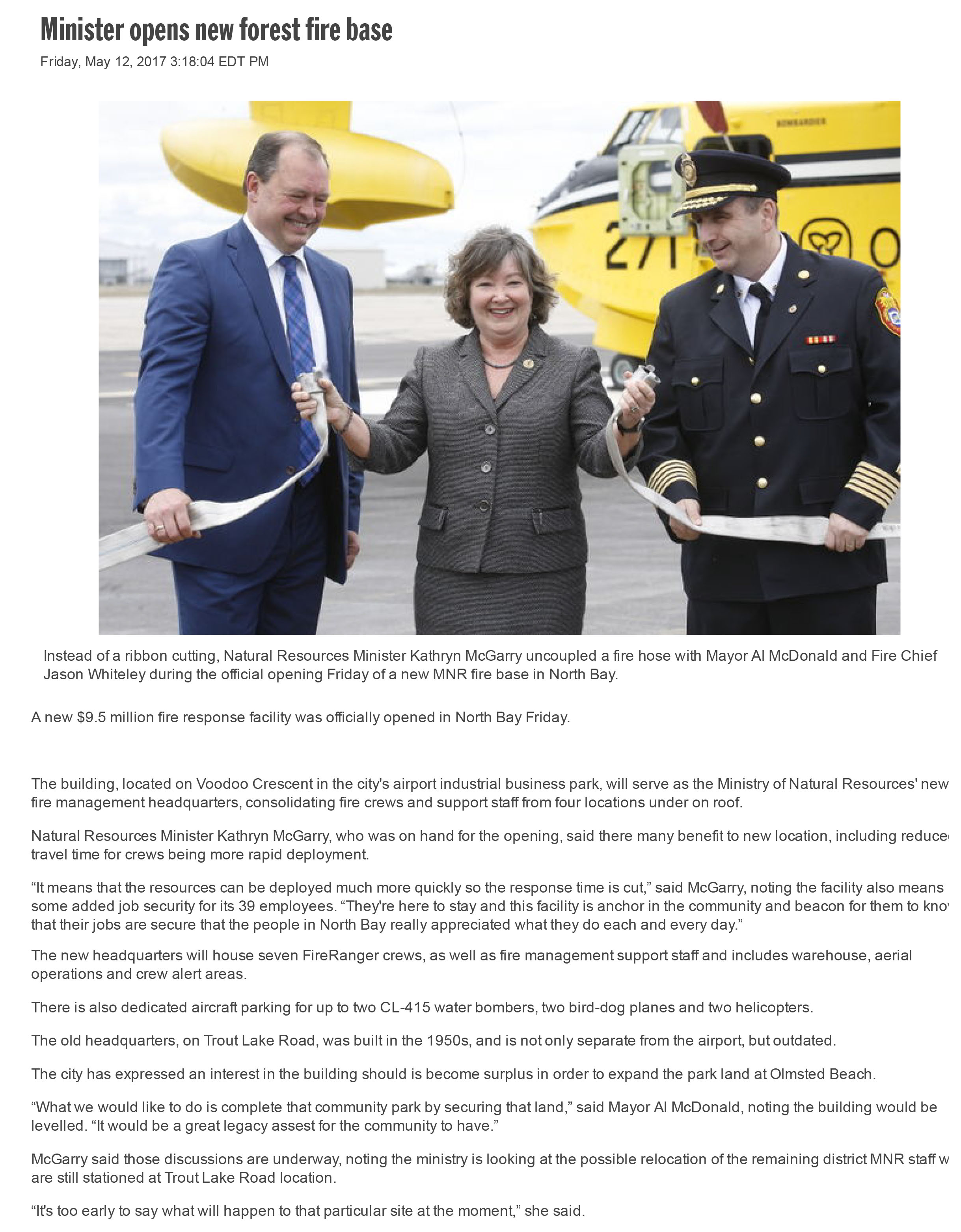 Minister opens new forest fire base _ North Bay Nugget-1.jpg