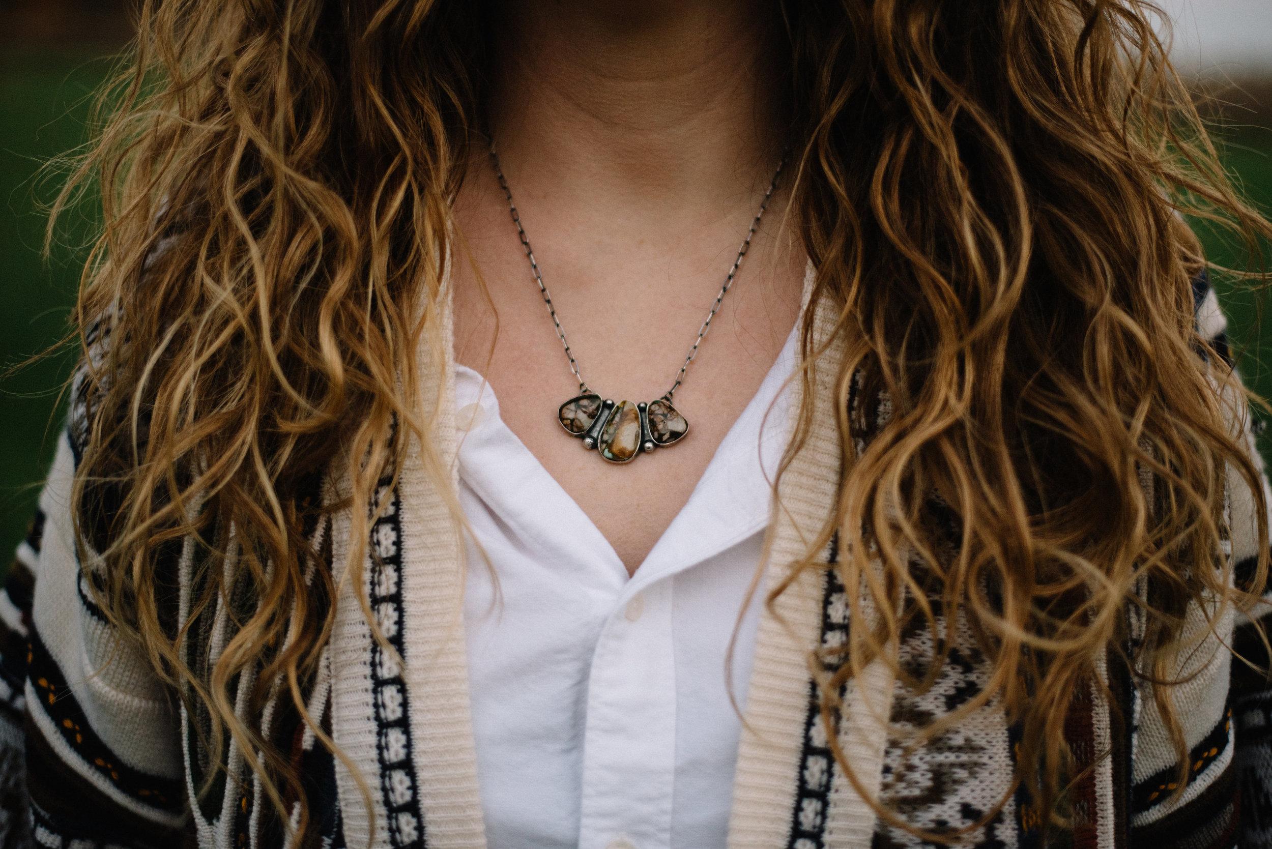 Royston Boulder Cluster Necklace