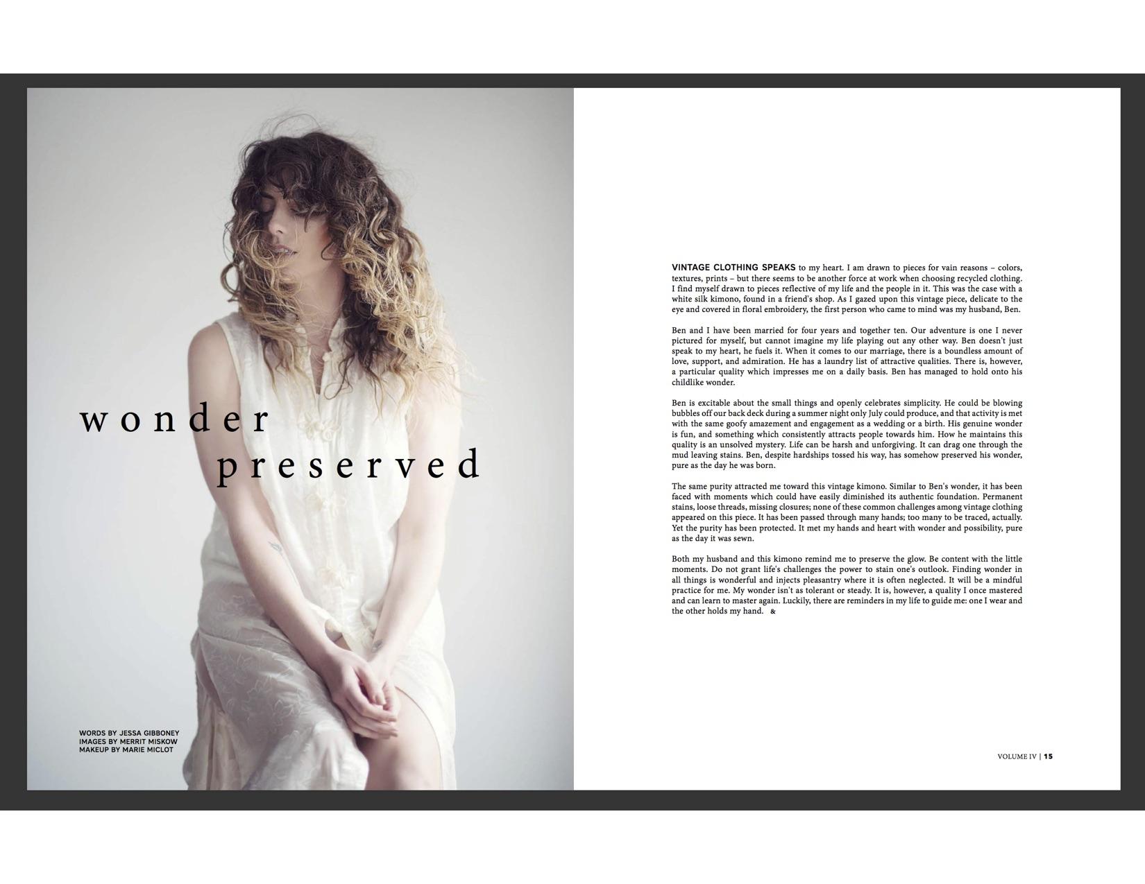 Wonder Preserved by Jessa Gibboney | Holl & Lane Magazine