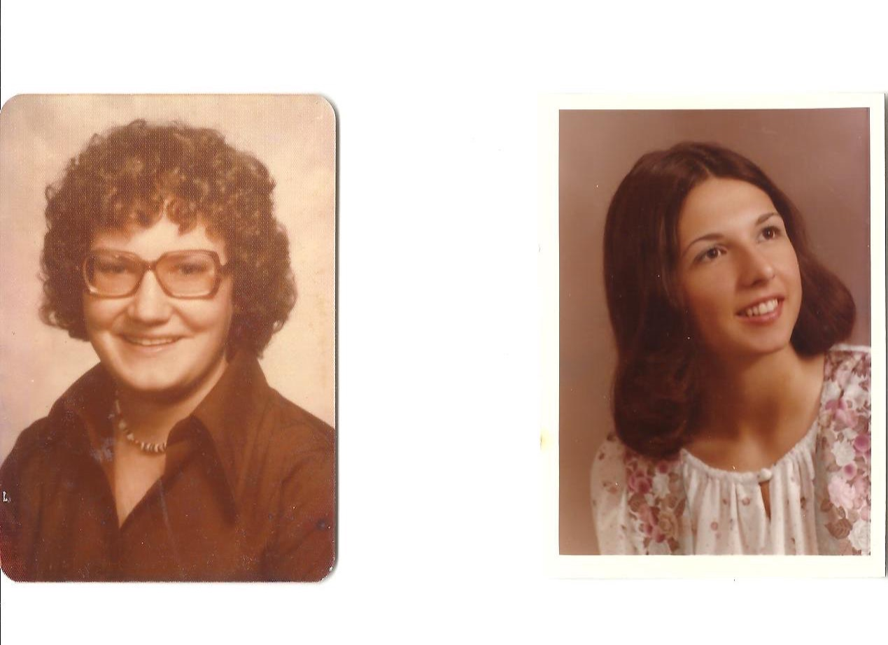 College graduation photos of Sal and my mother, Linda
