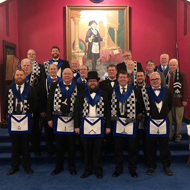 2019 officers, led by WB Ryan. Our youngest master in the our 144 year history. . . #masons #lodge #master #afam #freemasonry #freemason #excelsior #lakeminnetonka #brother #square #compass #faith #hope #charity