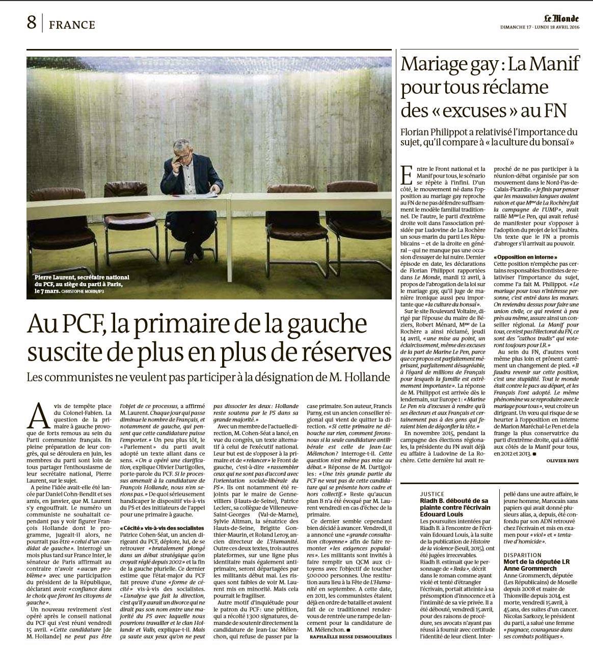 Le Monde - 18 avril 2016 © Christophe Morin.jpg